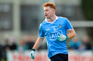23 December 2017; Aaron Byrne of Dublin during the Annual Dub Stars Football Challenge match between Dublin and Dub Stars at St Vincent's GAA Club in Dublin. Photo by Piaras Ó Mídheach/Sportsfile