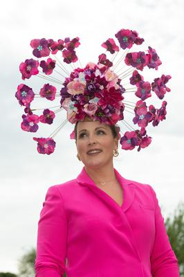 Award winning miliner Caithriona King from Corofin Galway who entered the Virtual Best dressed on Ladies day for the Galway Races