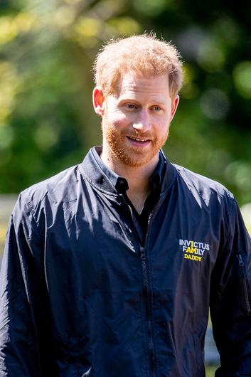 Prince Harry looks on during the presentation of the Invictus Games The Hague 2020, in The Hague, Netherlands, on May 9, 2019