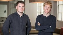 John and Patrick Collison of Stripe. Photo: Dai-Lon Weiss