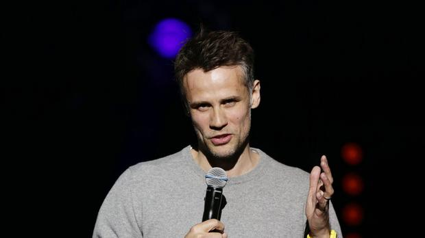 Richard Bacon fell ill while travelling to Britain from the US (Yui Mok/PA)