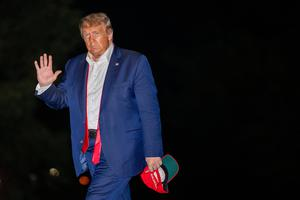 Back home: Donald Trump at the White House after returning from his campaign rally in Tulsa, Oklahoma. AP Photo/Patrick Semansky