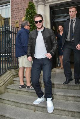 Transformers: Age of Extinction actor Jack Reynor seen leaving The Merrion Hotel ahead of the movie's Irish premiere