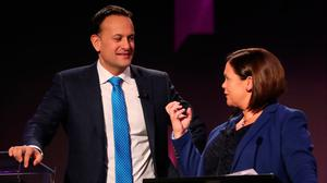 Gloves are off: Sinn Féin leader Mary Lou McDonald goaded Leo Varadkar in the Dáil this week. In response, the Taoiseach sneered and was over-wrought, in a sign of things to come. PHOTO: PA