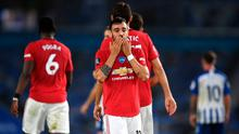 Bruno Fernandes netted twice in Man United's 3-0 win over Brighton. Mike Hewitt/NMC Pool/PA Wire.