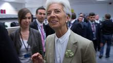 International Monetary Fund Managing Director Christine Lagarde arrives at a Eurozone finance ministers emergency meeting in Brussels, Belgium June 24, 2015. Greek Prime Minister Alexis Tsipras wrestled with creditors demanding changes to his proposed tax and reform plans on Wednesday in a last-minute race to clinch a deal to which euro zone finance ministers could agree.  REUTERS/Yves Herman