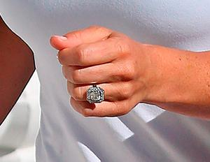 Pippa Middleton's engagement ring. Picture: Philip Toscano/PA Wire