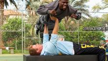 Will Ferrell and Kevin Hart in a scene from Get Hard