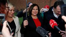 Sinn Fein leader Mary Lou McDonald  REUTERS/Phil Noble