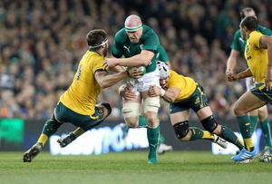 Ireland and Paul O'Connell have come a long way since their defeat to Australia at the Aviva Stadium last year. Photo: John Dickson / SPORTSFILE