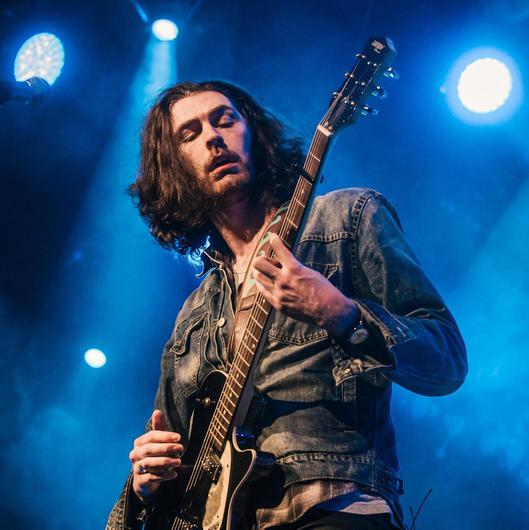 Hozier on stage