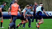 England head coach Eddie Jones during training