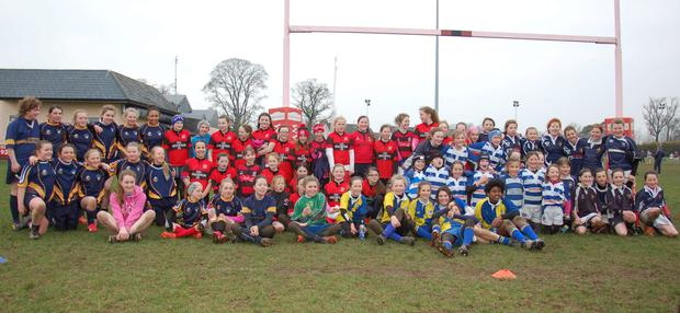 Almost 100 girls took part in the mini blitz for girls hosted by Tullamore