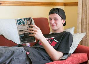 Story By Kathryn Hayes Ian Fitzhenry relaxing at home in Patrickswell County Limerick after his interesting first day sitting his Leaving Cert Exams. Picture  Credit Brian Gavin Press 22
