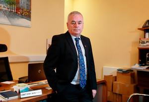 Determined: NBRU general secretary Dermot O'Leary in his office at the NBRU HQ on Parnell Square. Photo: Frank McGrath