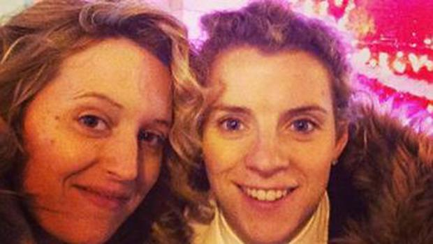 Meg Blythe and her partner Valerie Mulcahy. The pair will have a civil union in June and will be backing the Yes campaign in the same-sex marriage referendum.