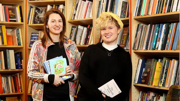 Louisa Earls and Mary McAuley pictured at Books Upstairs. Photo: Frank McGrath