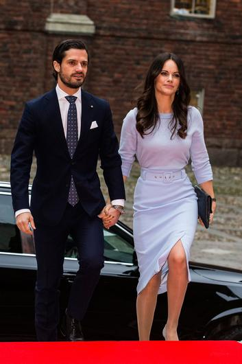 Prince Carl Phillip of Sweden and Princess Sofia of Sweden visit Stockholm City Hall for a lunch in connection with the Italian state visit on November 14, 2018 in Stockholm, Sweden