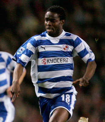 Sam Sodje of Reading pictured on February 17 2007 in Manchester, England. (Photo by John Peters/Manchester United via Getty Images)
