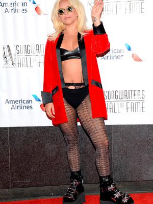 Lady Gaga attends the 46th Annual Songwriters Hall of Fame Induction and Awards Gala at the Marriott Marquis on Thursday, June 18, 2015, in New York. (Photo by Evan Agostini/Invision/AP)