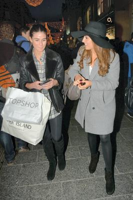 Nadia Forde spotted Christmas shopping on Grafton Street with friend Lynn Kelly