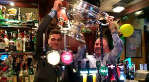 Paddy Andrews and Hugh Hourican, Boar's Head owner