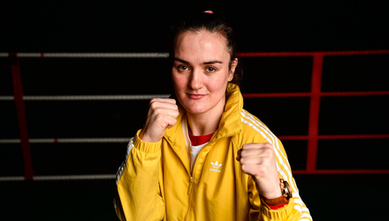 20 February 2018; Boxer Kellie Harrington of St Mary's Boxing Club, Dublin, during the launch of the Liffey Crane Hire Elite Boxing Championship at the National Stadium in Dublin. Photo by Seb Daly/Sportsfile