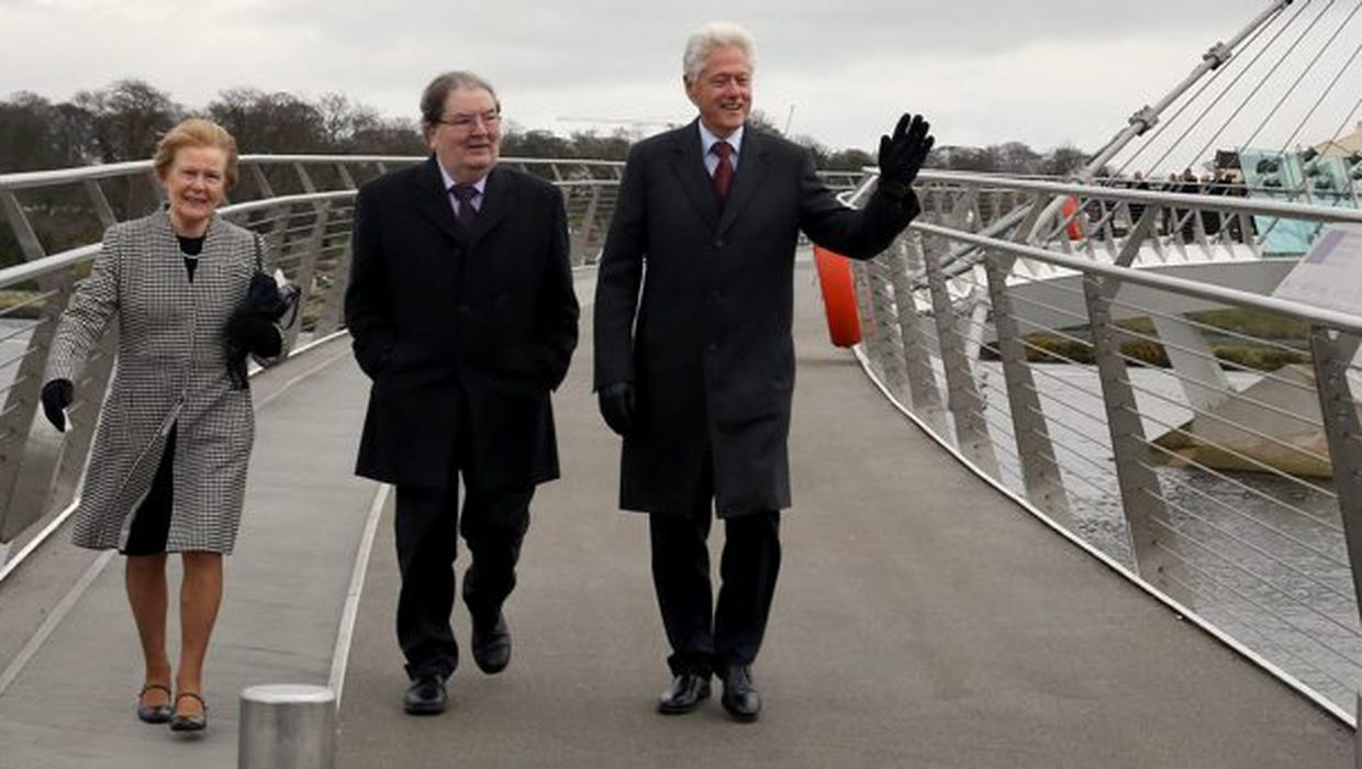 'He became a friend, he was a remarkable man' - Bill Clinton pays heartfelt tribute to John Hume