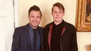 Westlife's Shane Filan and his nephew and Normal People actor Killian Filan pictured in 2015