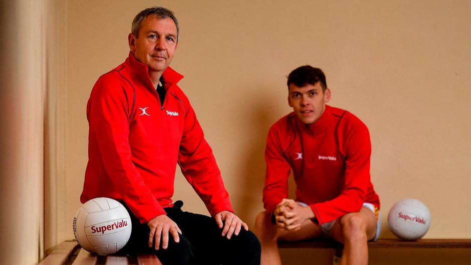 Kerry senior football manager Peter Keane (left) and footballer David Clifford