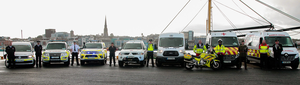 Emergency Vehicles meeting for National Services Day on Saturday in Ferrybank