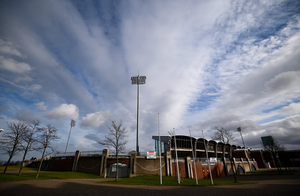 In the dark: Tallaght Stadium, home of Shamrock Rovers, lies empty and unused along with all the League of Ireland grounds. Photo: Stephen McCarthy/Sportsfile