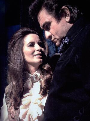 His saviour .... Johnny Cash  was guided to sobriety, sanity and hope when he met wife June Carter in 1967
