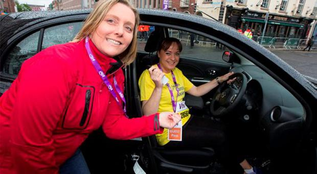 Jeanne McGann, Head of Marketing & Communications in Nissan Ireland with Lorraine Phelan