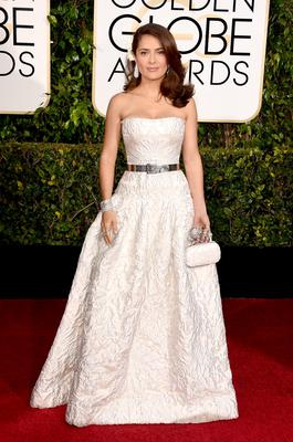 BEVERLY HILLS, CA - JANUARY 11:  Actress Salma Hayek attends the 72nd Annual Golden Globe Awards at The Beverly Hilton Hotel on January 11, 2015 in Beverly Hills, California.  (Photo by Jason Merritt/Getty Images)
