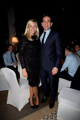 Dublins  Ger Brennan and Aisling Lonergan  at the Winners Banquet in The Gibson Hotel