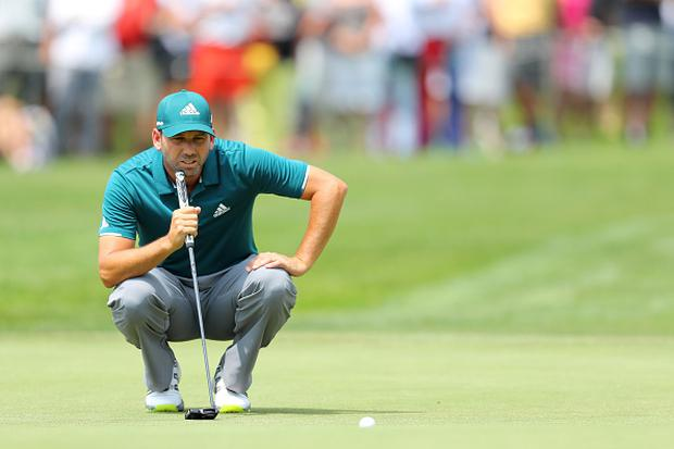 Sergio Garcia of Spain lines up on the 1st green during day two of the BMW International Open at Golfclub Munchen Eichenried on June 23, 2017 in Munich, Germany. (Photo by Warren Little/Getty Images)
