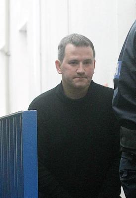 18/10/'2013 Graham Dwyer, of Kerrymount Close, Foxrock in Dublin arriving at Dun Laoghaire District Court Dublin he appeared at Dun Laoghaire District Court charged with the murder of Elaine O'Hara.Pic Collins Courts