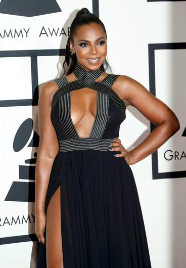 Singer Ashanti arrives at the 57th annual Grammy Awards in Los Angeles, California February 8, 2015.