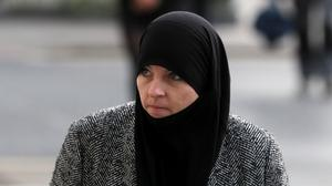Alleged ISIS member Lisa Smith arriving at a previous               hearing at the Central Criminal Court, Dublin (Brian               Lawless/PA)