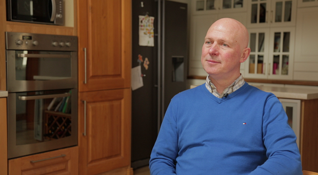 Anthony Crudden, homeowner, who received SEAI grants for external insulation on his home in Cabra.