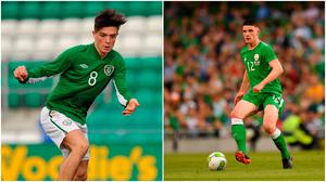 Jack Grealish (left) and Declan Rice (right).