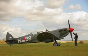 A Spitfire plane, similar to the model that crashed