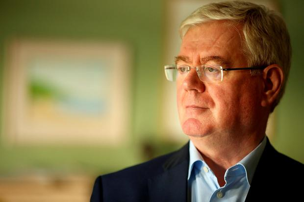 Eamon Gilmore: 'I think people want their politicians to be real people... Alan Kelly is somebody who says it as he sees it and that gets him into hot water from time to time. But I think he's got a very bright future.' Picture; Gerry Mooney