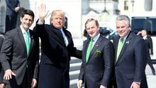 Speakers Lunch Capitol Hill Washington. Speaker Paul Ryan, US president Donal Trump, Taoiseach Enda Kenny and Congressman Peter King. Picture; Gerry Mooney