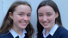 Isobel and Ava Hynes, winners of the Runner Up Group Award at the BT Young Scientist 2021