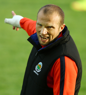 This way: Warren Feeney insists he'll have Linfield geared up for the challenge of Glenavon at Windsor Park