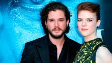 """Actors Kit Harington and Rose Leslie attend the premiere of HBO's """"Game Of Thrones"""" season 7 at Walt Disney Concert Hall on July 12, 2017 in Los Angeles, California.  (Photo by Frederick M. Brown/Getty Images)"""