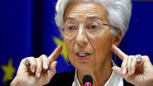 All ears: Christine Lagarde is ready to do more to ease the crisis. Photo: REUTERS/Francois Lenoir