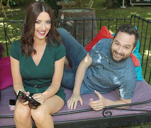 2fm  Presenters Jennifer Maguire and Keith Walsh pictured at the Rte 2fm Summer launch at Rte Studios  in Donnybrook, Dublin. Pictures : Brian McEvoy